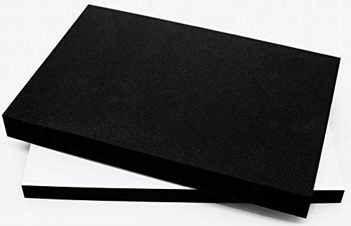 EPDM Zellkautschuk Dichtungsmatte einseitig, selbstklebend Moosgummi - Größe A4 200x300mm - Stärke in 1/2/10/15/20/30 mm (200x300x15mm) Premium-Qualität mit Geld-zurück-Garantie