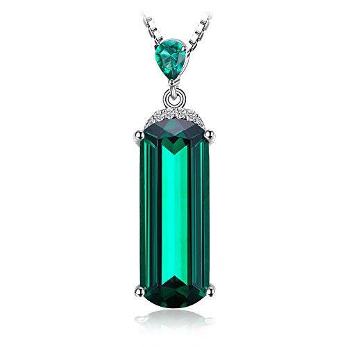 Jewelrypalace 4.42ct Damen Geschenk Simulierte Grün Nano Russisch Smaragd Anhänger Halskette Kette Mit 45cm Box Kette Massivem 925 Sterlingsilber