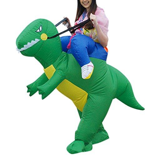 Bold Manner Riesiger aufblasbarer Kostüm Dinosaurier Pferd und Cowboy Fasching Karneval in verschiedenen Designs und Farben (Blow Cowboy Up Kostüm)