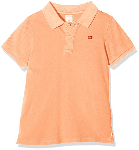 Scotch & Soda Shrunk Jungen Poloshirt Garment Dyed Polo, Rosa (Neon Peach 1662), 140 (Herstellergröße: 10)