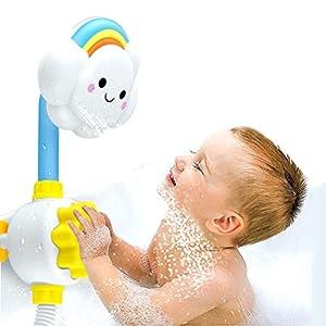 Ourine Kreative Baby-Dusche Spielzeug, 1500ml Edelstahl Gießkanne mit Langen schlanken Auslauf Metall Gießkanne weiß