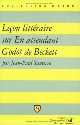 Leçon littéraire sur En attendant Godot de Beckett