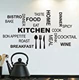 Qbbes Modern Kitchen ArtWall Sticker Per LaSala Da Pranzo Decor Food Bake Wine Kitchen Decalcomanie Decorazione Della Parete 57X29Cm