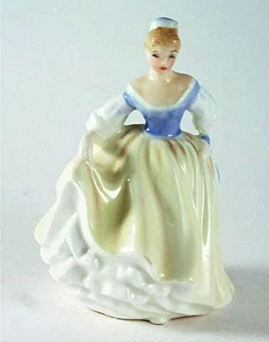 Royal Doulton Petite figurine–hn3216–Fair Lady–Citron et Bleu robe–gc54
