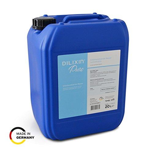 DILIXIN® Pure, entmineralisiertes Wasser durch Osmose, 20 Liter Kanister, VE Wasser für Luftbefeuchter, destilliertes und reines Wasser mit maximaler Leitfähigkeit von < 7 µS/cm