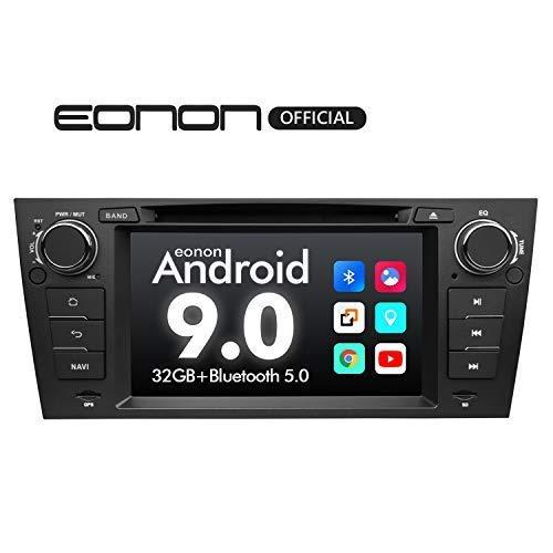 eonon GA9365 Android 9 fit BMW E90 E91 E92 E93 2GB RAM 32GB ROM Quad-Core 17,8 cm LCD HD Touchscreen DVD GPS Navigation unterstützt integrierter Bluetooth 5 Empfänger 4G WiFi OBDII