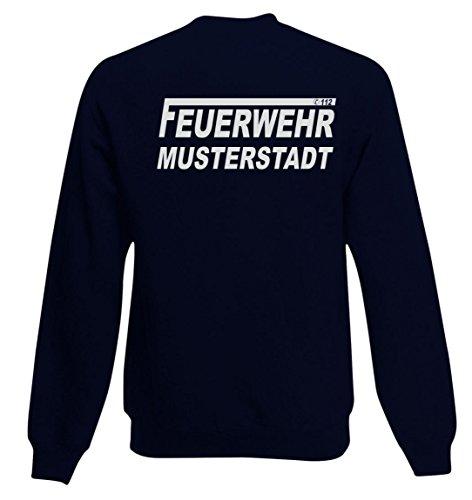 feuerwehr sweatshirt Sweatshirt FEUERWEHR beidseitig bedruckt mit Wunschort