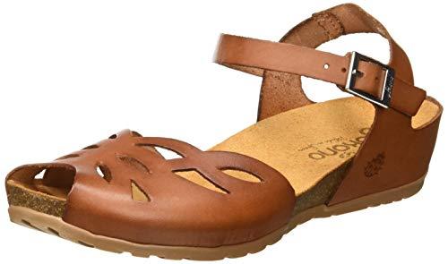 bfde2619ff2 Yokono Women s Capri 003 Vaquetilla Ankle Strap Sandals Brown (Nuez 002)  5.5 UK