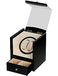 Remontoir à Montres Ecrins pour Montres Automatiques Boîte de Rangement Silencieux Homme Femme (noir2+2)