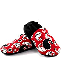 Skips Comfortable Baby Booties Shoes for Baby Girl & Boy - Paisley Print - Red Black White