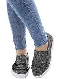 Zapatos Mujer,Sonnena Zapatillas de Deportiva Slip on Huecos Sneakers para Caminar Walking Calzado Malla Transpirables Loafer Ligeros Mocasines Verano
