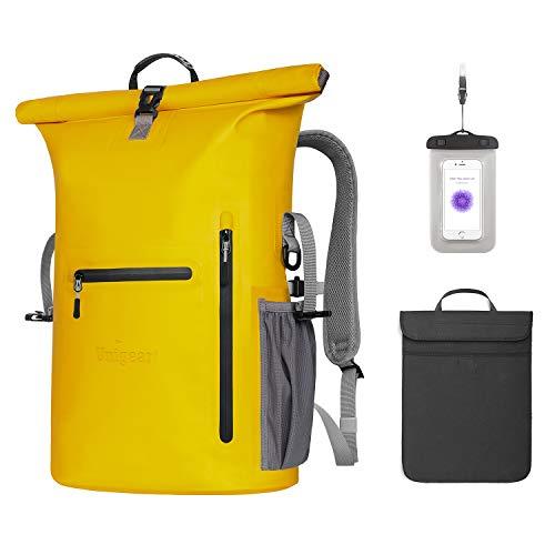 Unigear Wasserdichter Rucksack 35L, Dry Bag, Wasserdichter Packsack, 58x34x19cm, für Boot und Kajak, Angeln, Rafting, Schwimmen, Camping u...