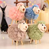 Hemore Holz einfache Hausdekoration Schafe Ornamente Tuch Fee praktisch Feiertage und Geburtstage Mittelstücke Ornament Saisonale Deko/Weihnachten