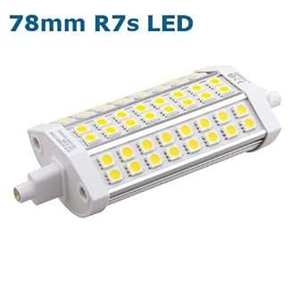 Ampoule lED crayon r7s 78 mm 5 w 3000 k 360 lm, lumière blanc chaud 240 v