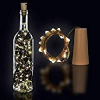 PESCA 20 LED Wine Bottle Cork Lights Copper Wire String Lights 2M Battery Operated Wine Bottle Fairy Lights (Warm White…