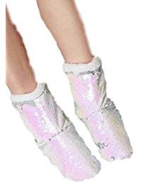 cd28be9b9119 Primark White~Silver~Sequin Slipper Boots~Mermaid~Size 3-5~