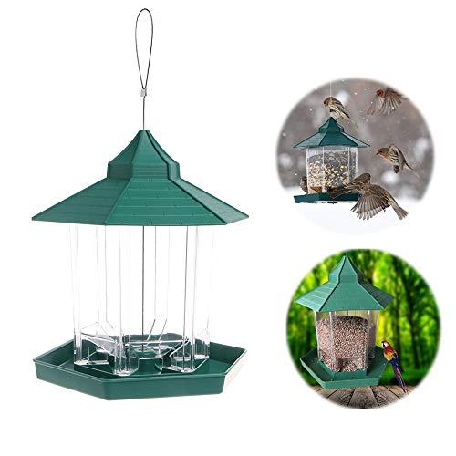 FAMLYJK Pavillon hängen Wildvogelhäuschen - Outdoor Vogelhäuschen - ideal für Gartendekoration und Vogelbeobachtung für Vogelliebhaber und Kinder