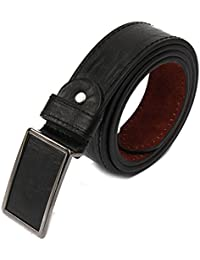 SODIAL(R)Men's Leather Belt Metal Buckle Automatic Clasp 39-43 inch coffee