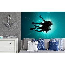 Bilderdepot24 Papier Peint Photo Autocollant - autoadhésif - Plongeurs dans la Mer Rouge - 310x200 cm Décoration - Tableau Mural - Affiche Murale - Images murales