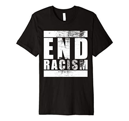 Vintage Style End Racism Gegen Rassismus Shirt