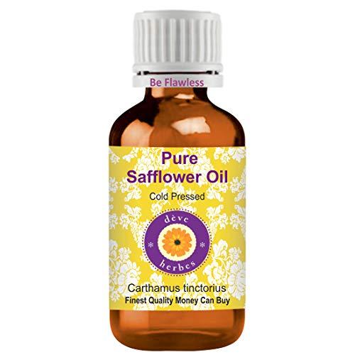 Deve Herbes Pure Safflower Oil (Carthamus tinctorius) Therapeutic Grade Cold Pressed 100ml