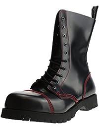 Boots Braces Stiefel 10 Loch Vegetarian Schwarz Vegane Rangers Stahlkappen
