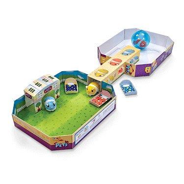 Pitter Patter Pets – Roll Hamster Roll – Spielset mit 3 interaktiven Hamstern, 1 Hamster-Rad und Zubehör