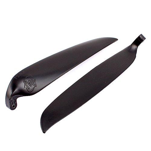 sourcingmap Par wing Aircraft Propeller RC Folding Plastic Black 10 x 8 Inches Pallet