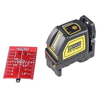 Laser Level, Self Leveling Cross Line Laser Red 98ft/30M with Magnetic Pivot Bracket, Red Laser Target, Cloth Bag, U.S. Solid Product