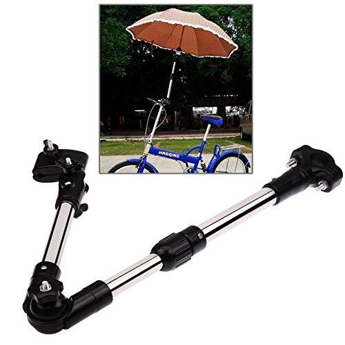 Xiaochou@sl Porte-Parapluie vélo Universel et réglable en Acier Inoxydable, Taille: 61cm x 8cm x 5cm sécurité