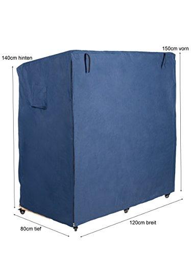 Strandfeeling Strandkorbhülle L blau aus Hochwertigem Oxford 600D Witterungs- und UV-Beständnig, ideal für Sommer und Winter