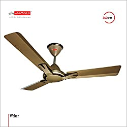 JANAKI WEBER 1200mm Sweep 60-Watt Ceiling Fan (Gold)