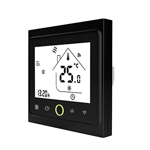 Festnight Thermostat Heizung WiFi Elektrisches 16a LCD-display Touchscreen Raumthermostat Smart Wandthermostat Programmierbar Energiesparender Intelligenter Wöchentlicher Zubehör Temperaturregler - Programmierbare Wärmepumpe Thermostat