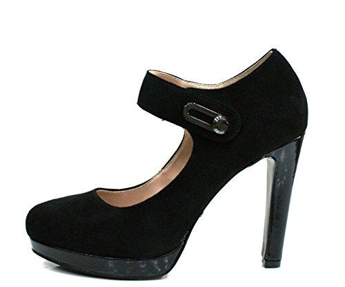 Gaudi Decollete Donna Bali Tacco Cm 11 Suede Black_37