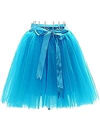 Oudan Falda de Ballet Tutú de Tul Falda Corta de los Años 50 Colores  Variados para b17cf8493e7