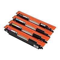 حبر ليزر من ايه سي او  -HP 126A - متعدد الالوان-  اتش بي Pro CP1025 CP1025NW M175 275-معدل الطباعة : 1200 ورقة اسود / 1000 ورقة ملون