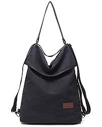 Travistar Canvas Tasche Damen Rucksack Handtasche Damen Vintage Umhängentasche Anti Diebstahl Tasche Hobo Tasche für Alltag Büro Schule Ausflug Einkauf