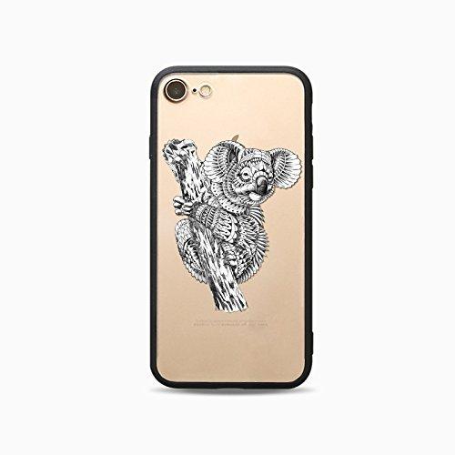 Coque iPhone 7 Housse étui-Case Transparent Liquid Crystal Les animaux en TPU Silicone Clair,Protection Ultra Mince Premium,Coque Prime pour iPhone 7-Cheval-style 12 4