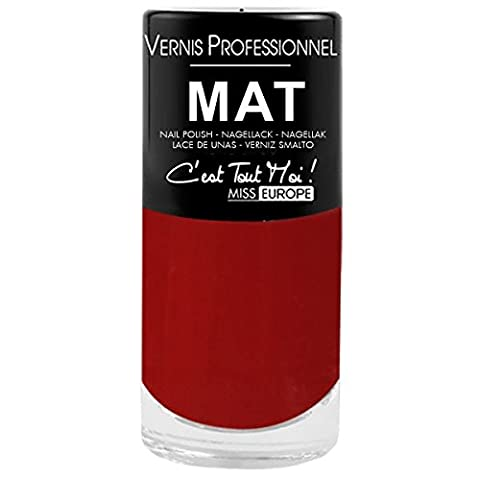VERNIS A ONGLES-PROFESSIONNEL-MAT-12 COLORIES DIFFERENTS-TOP VENTE PSYCHIC - 162 ROUGE ELEGANCE