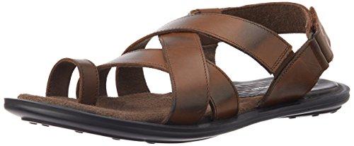 Hush Puppies Men's Edan Sandal Brown Leather Athletic & Outdoor Sandals - 11 UK/India (45 EU)(8644960)