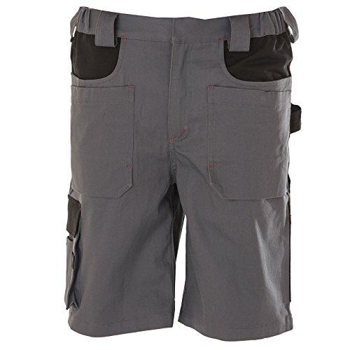 Pantaloncini Corti Da Lavoro Professionali Elasticizzati Multitasche JRC Egypt Grigio