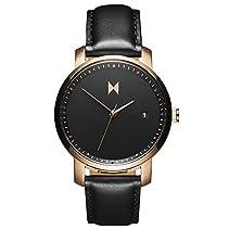 MVMT Damen Watch Uhr Rose Gold/Black Leder Armband MF01-RGBL