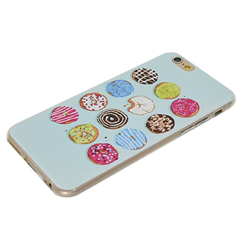 iPhone 6 Plus/6S Plus 5.5 Coque, Voguecase TPU avec Absorption de Choc, Etui Silicone Souple Transparent, Légère / Ajustement Parfait Coque Shell Housse Cover pour Apple iPhone 6 Plus/6S Plus 5.5 (fle Donuts 04