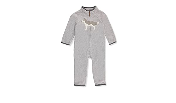 388010156 Carter's Baby Boy Wolf Heathered Fleece Jumpsuit 3 Months: Amazon.in:  Clothing & Accessories