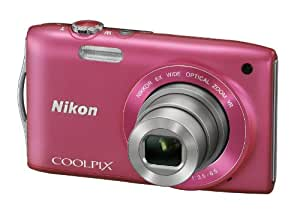 Nikon COOLPIX S3300 Compact Digital Camera - Pink (16MP, 6x Optical Zoom) 2.7 inch LCD