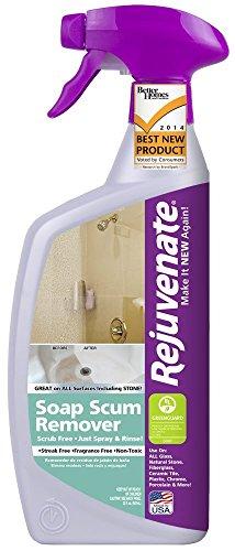 Rejuvenate RJ24SSR Scrub Free Soap Scum Remover, 24-Ounce by Rejuvenate