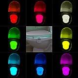 Colleer WC Nachtlicht Motion Sensor LED Licht Batteriebetriebenes LED 8 Farben Wechsel (1)