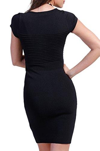 INFINIE PASSION - maille - Robe sexy noir Noir