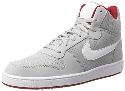Nike Herren Court Borough Mid Gymnastikschuhe, Grau (Wolf Grey/White-Gym Red), 46 EU