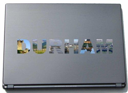 Durham Laptop Aufkleber Laptop Skin 290 mm mit Sehenswürdigkeiten